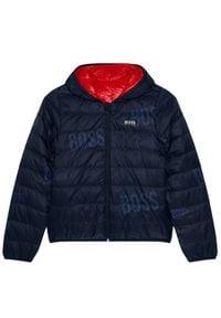 BOSS - Boss Kurtka puchowa J26416 S Czerwony Regular Fit. Kolor: czerwony. Materiał: puch