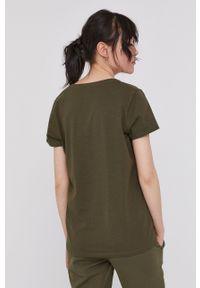 medicine - Medicine - T-shirt Basic. Kolor: zielony. Materiał: bawełna, dzianina, włókno. Wzór: gładki
