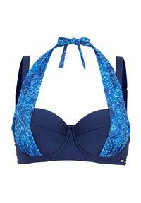 Cellbes Góra od bikini we wzory niebieski female ze wzorem/niebieski 100D. Kolor: niebieski. Materiał: poliester