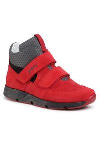 Bartek - Trzewiki BARTEK - 67018/REB Czerwony. Kolor: czerwony. Materiał: skóra, zamsz, materiał. Szerokość cholewki: normalna. Sezon: zima