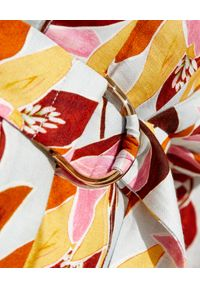 ACLER - Wzorzysta sukienka Northbrook. Kolor: brązowy. Materiał: tkanina, wiskoza, len, nylon. Wzór: nadruk. Długość: mini