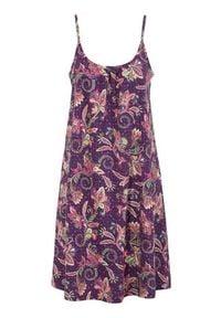 Cellbes Sukienka plażowa we wzory Fioletowy female ze wzorem/fioletowy 50/52. Kolor: fioletowy. Materiał: jersey, bawełna