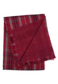 Czerwony szalik Teer w kratkę, elegancki