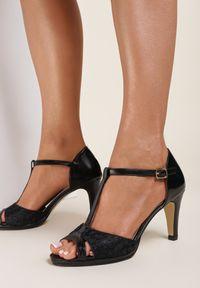 Renee - Czarne Sandały Arrinoe. Kolor: czarny