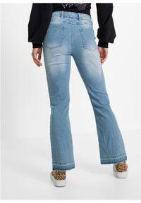 Niebieskie jeansy bonprix z aplikacjami, krótkie