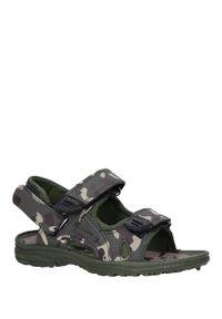 Zielone sandały Casu na rzepy, moro