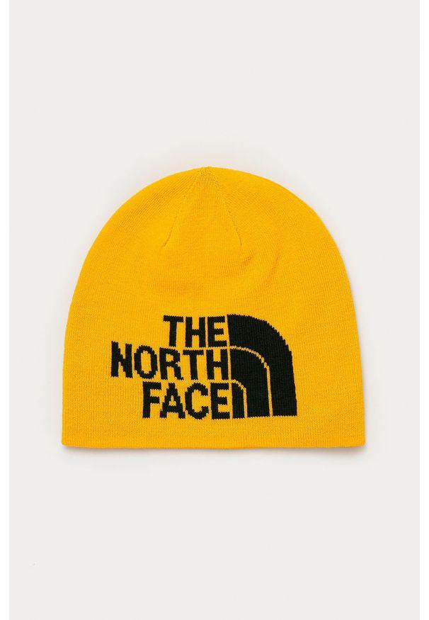 Żółta czapka The North Face z nadrukiem