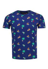 Polo Ralph Lauren - T-shirt POLO RALPH LAUREN SSCNCMSLM3. Typ kołnierza: polo. Materiał: prążkowany, bawełna. Długość: krótkie. Wzór: aplikacja, nadruk. Styl: wakacyjny