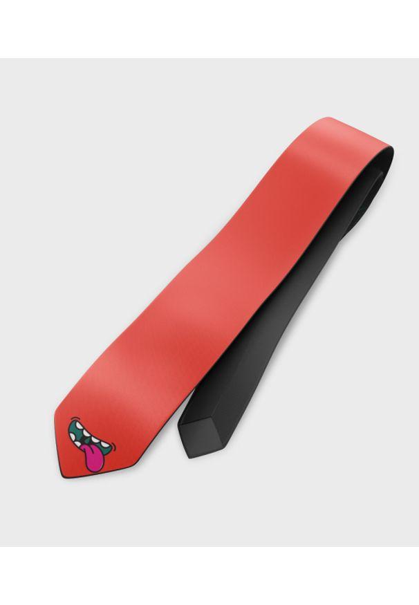 MegaKoszulki - Krawat Face 2. Materiał: materiał, poliester. Wzór: nadruk. Styl: elegancki