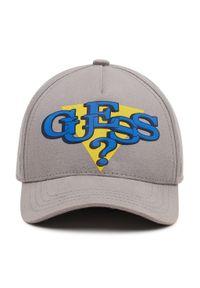 Guess - Czapka z daszkiem GUESS - Delsin Logo ABDEL1 CO213 GREY. Kolor: szary. Materiał: bawełna, materiał