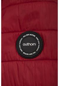Czerwona kurtka puchowa outhorn ze stójką