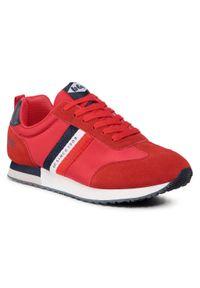 Czerwone sneakersy Lee Cooper z cholewką, na co dzień