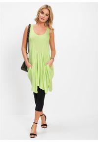 Długi top bonprix zielony kiwi. Kolor: zielony. Długość: długie