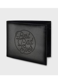 MegaKoszulki - Portfel skórzany Best dad ever. Materiał: skóra