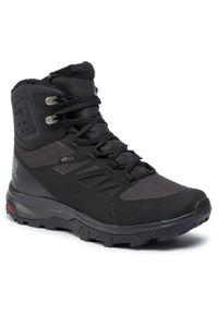 Czarne buty trekkingowe salomon trekkingowe, Thinsulate, z cholewką