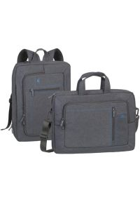 Szara torba na laptopa RIVACASE w kolorowe wzory