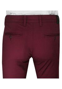 Czerwone spodnie Rigon casualowe, na co dzień