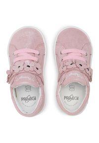 Primigi - Sneakersy PRIMIGI - 7404200 Chiffon. Okazja: na spacer. Zapięcie: rzepy. Kolor: różowy. Materiał: skóra, zamsz. Szerokość cholewki: normalna. Wzór: aplikacja