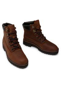 Brązowe buty trekkingowe Timberland klasyczne, z cholewką