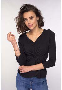 Czarna bluzka z długim rękawem Nommo elegancka