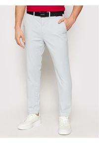 Calvin Klein Chinosy K10K106894 Niebieski Slim Fit. Kolor: niebieski