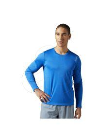 T-shirt Reebok długi, z dekoltem na plecach, z długim rękawem