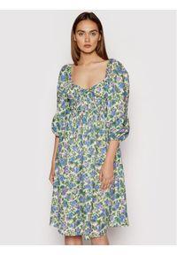 For Love & Lemons Sukienka letnia Bridget CD2358 Zielony Regular Fit. Kolor: zielony. Sezon: lato