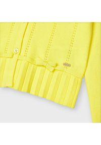 Mayoral Kardigan 3324 Żółty Regular Fit. Kolor: żółty #4