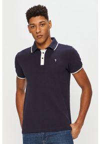 Niebieska koszulka polo Trussardi Jeans na co dzień, krótka