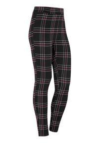 Cellbes Żakardowe legginsy w kratkę burgundowy w kratkę female czerwony/ze wzorem 58/60. Kolor: czerwony. Materiał: żakard. Wzór: kratka