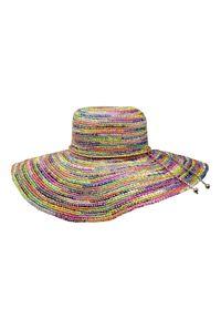 SENSI STUDIO - Kolorowy kapelusz Lady Ibiza. Kolor: zielony. Wzór: kolorowy. Sezon: lato