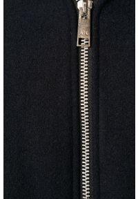 Niebieski płaszcz Armani Exchange z kapturem, na co dzień, casualowy #5