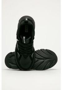 Czarne buty sportowe Big-Star z okrągłym noskiem, na sznurówki