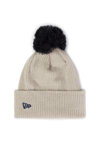 Beżowa czapka zimowa New Era z motywem z bajki