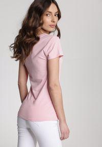 Różowy t-shirt Renee