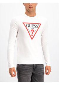 Biała koszulka z długim rękawem Guess