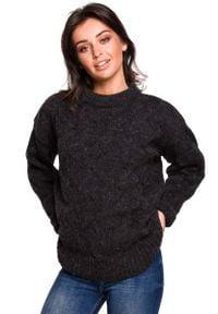 Szary sweter oversize MOE