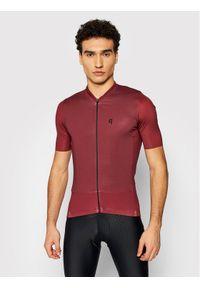 Quest Koszulka rowerowa Adventure Bordowy Slim Fit. Kolor: czerwony