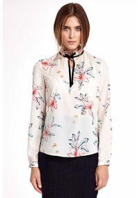 Bluzka Nife w kwiaty, ze stójką, elegancka