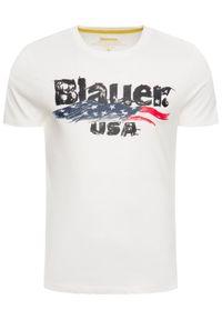 Biały t-shirt Blauer z nadrukiem