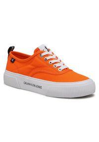 Pomarańczowe trampki Calvin Klein Jeans
