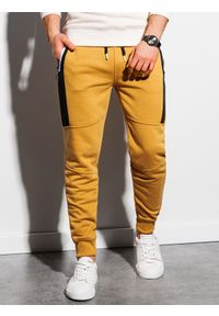 Żółte spodnie Ombre Clothing #4