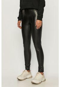 Czarne spodnie materiałowe Brave Soul z podwyższonym stanem
