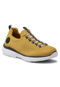 Rieker - Sneakersy RIEKER - M5052-68 Gelb. Okazja: na co dzień. Kolor: żółty. Materiał: materiał. Szerokość cholewki: normalna. Sezon: lato. Styl: casual