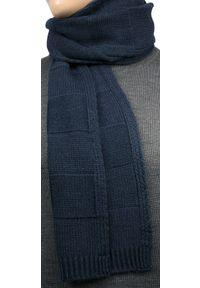 Niebieski szalik V. Fraas klasyczny, na jesień