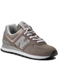 Szare sneakersy New Balance 574, na co dzień, z cholewką