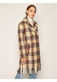 iBlues Płaszcz wełniany Lux 70160606 Beżowy Regular Fit. Kolor: beżowy. Materiał: wełna