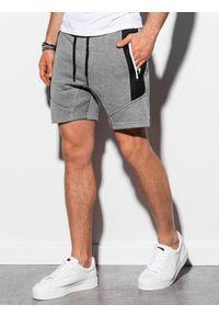 Szare szorty Ombre Clothing melanż, krótkie