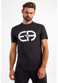 Emporio Armani - T-SHIRT EMPORIO ARMANI. Długość rękawa: krótki rękaw. Długość: krótkie. Wzór: nadruk