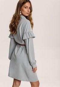 Renee - Miętowa Sukienka Inawarin. Kolor: miętowy